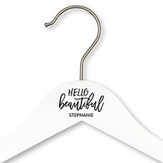 Personalized Wooden Wedding Hanger - Hello Beautiful Printing