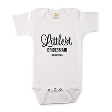Cute Personalized White Baby Bodysuit - Littlest Bridesmaid