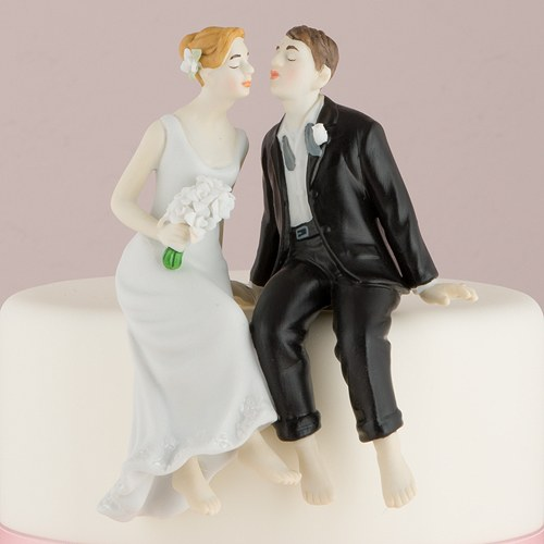 wedding cake toppers bride groom cake toppers whimsical sitting