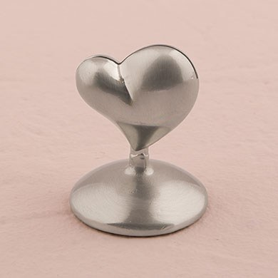 Swish Heart Wedding Reception Place Card Holders