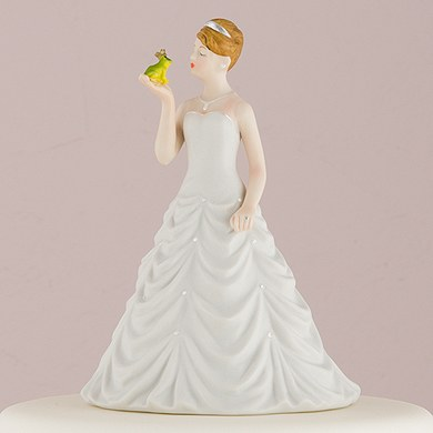 Princess Bride Kissing Frog Prince Wedding Cake topper