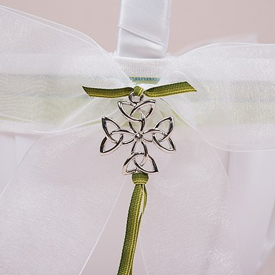 Celtic Charm Wedding Flower Girl Basket