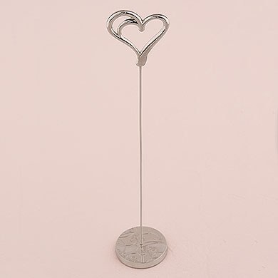 Double Heart Stationery Table Number Holder