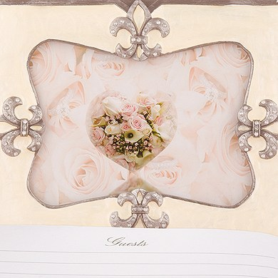 Decorative Fleur De Lis Guest Book