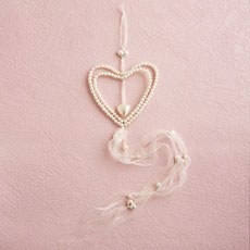 Pearl/Ivory Large Double Heart Hanger