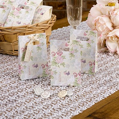 White Doves Theme Small Paper Favour Bag