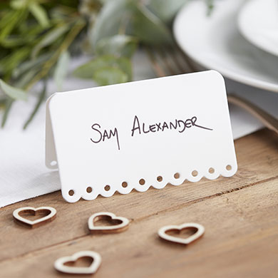 Scalloped Edge Place Cards - 10 Pack
