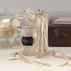 Gold Lace & Satin Ribbon Wedding Wands