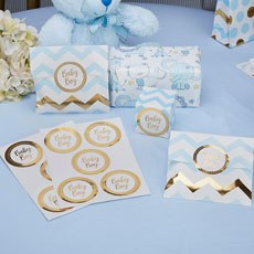 Baby Boy Stickers Gold Foil