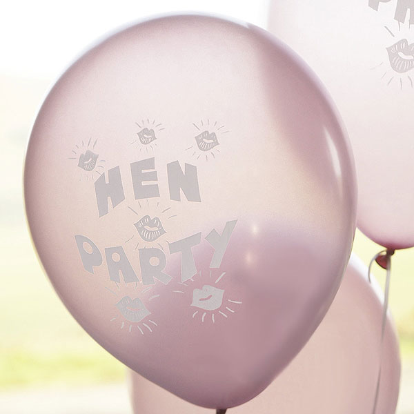 Pink Hen Party Balloon Pack