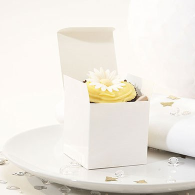 Cupcake Favor Box Pack Ivory