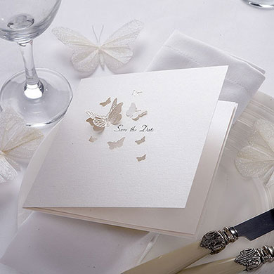Pearl Butterfly Save the Date