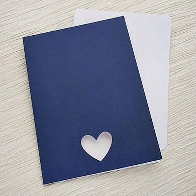 Navy Eco Chic A5 Folded OOS/MENU Kit - 10 Pack