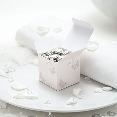 Pearl Butterfly Favor Box - 10 Pack
