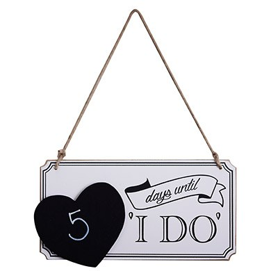 I Do Countdown Sign