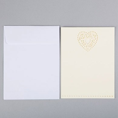 Double Heart Invitation   Pack Of 10pcs