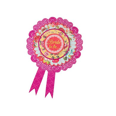 Floral 'Bride to Be' Rosette