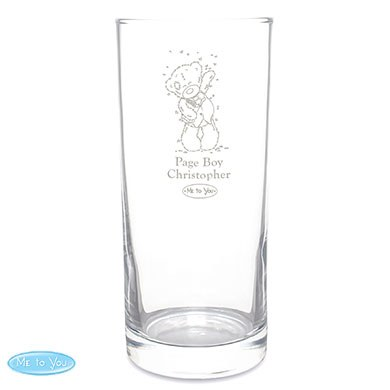 Personalized Me To You Page Boy Hi Ball Glass
