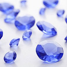 Midnight Blue Diamante Table Gems 100g Mixed Size Value Pack