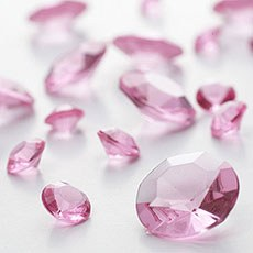 Pastel Pink Diamante Table Gems 100g Mixed Size Value Pack