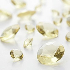 Yellow Diamante Table Gems 100g Mixed Size Value Pack