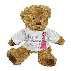 Personalized Fabulous Bridesmaid Teddy