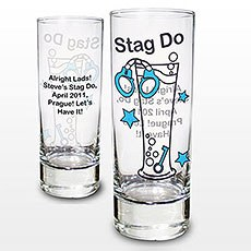 Personalized Stag Shot Glass