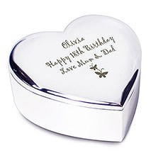 Heart Butterfly Trinket Box Personalized