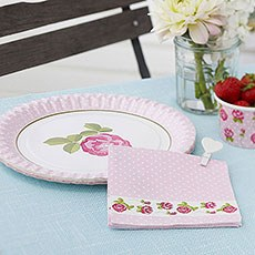 Vintage Rose Napkins Pack