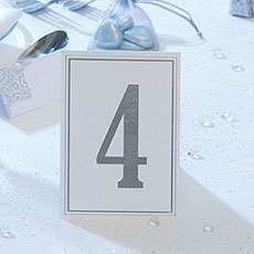Elegant Border Wedding Table Numbers 1-10