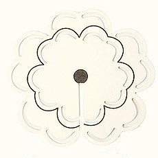 Ivory Flower Place Card For Glasses Pack