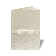Damask Ribbon Thank You Card