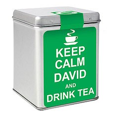 Keep Calm Tea and Tin