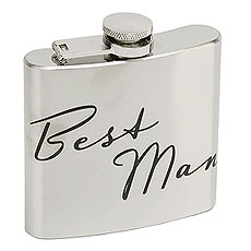 Amore 5oz Stainless Steel Hip Flask - Best Man