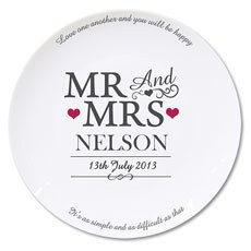 Mr & Mrs Personalized Plate