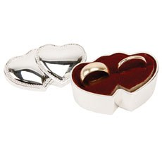 Sophia Silverplated Double Heart Ring Box