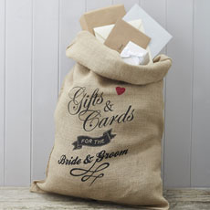 Hessian Card Sack