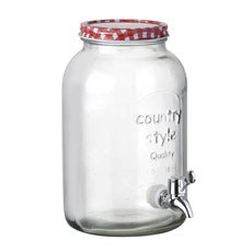 Glass Mason Jar Beverage Dispenser