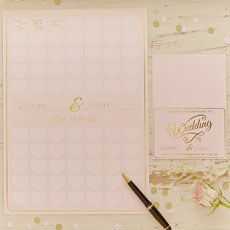 Pastel Pink Heart Guest Book Keepsake