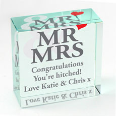 Personalized Mr & Mrs Medium Crystal Token