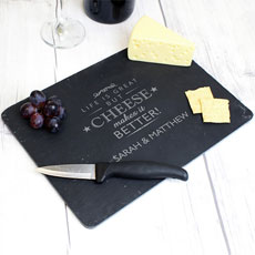 Personalized Slate Cheeseboard