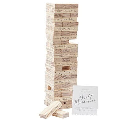 Wooden Build A Memory Guest Book