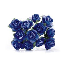 Navy Tea Roses - 24 Pack