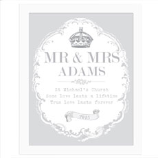 Personalized Royal Crown White Poster Frame