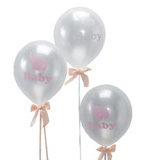 Baby Shower Mixed Balloons Pink & Grey - 10 Pack