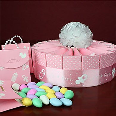 Baby Girl Shower Favor Kit  Single Tier