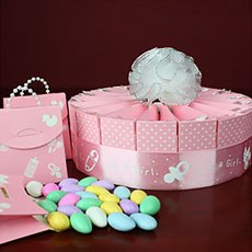 Baby Girl Shower Favor Kit - Single Tier