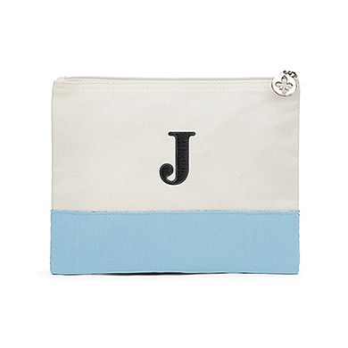 Colorblock Large Zip Pouch Sky / Light Blue