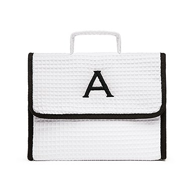 Stand Up Waffle Cosmetic Bag White