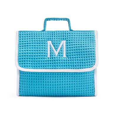 Stand Up Waffle Cosmetic Bag Turquoise